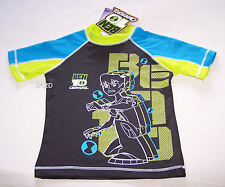 Ben 10 Omniverse Boys Grey Blue Printed Rash Vest Size 6 New