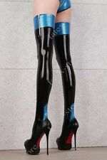 506 Latex Rubber Gummi Stocking thigh-highs socks customized .4mm zipper catsuit