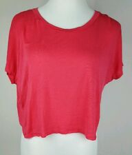 Day Dreamer LA Anthropologie cropped shirt pink sz M EUC RN 66170