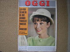 AUDREY HEPBURN FILM PARIS WHEN IT SIZZLES ON COVER OGGI  ITALIA MAGAZINE 1962