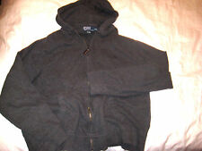 POLO RALPH LAUREN LIGHT STRETCH COTTON HOODIE ZIP JACKET-EMBROIDERDD LOGO- 2XL