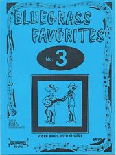 Bluegrass Favorites Song Book Vol 3 w/ Chord Charts for Guitar, Banjo, and Mando