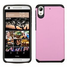 For HTC Desire 626/626s Pink Black Hard Silicone Hybrid Rubberized Case
