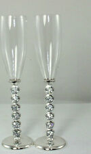 Wedding/Bridal Diamante Crystal Diamond Stems Toasting Champagne Glasses Flutes