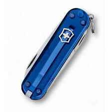 Sapphire Blue Victorinox Classic Swiss Army Knife - Most popular knife worldwide