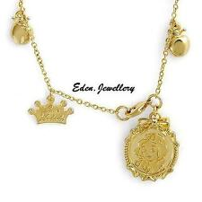 Extremely RARE Disney Couture Kidada Jones SNOW WHITE Apple Necklace Gold Plated
