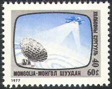 Mongolia 1977 Communications/Satellite/Telecomms/Radio Dish/Space/TV 1v (n12131)