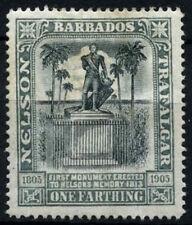 Barbados 1906 SG#145, 1/4d Nelsen Centenary MH #D31855
