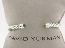 DAVID YURMAN 5MM CABLE CLASSICS BRACELET PERIDOT AND DIAMONDS NEW