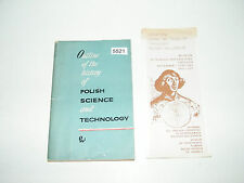 Outline Of The History Of Polish Science and Technology 1966