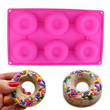 Silicone Donut Doughnut Cake Mould Ice Soap Candy Jelly Mold Baking Pan