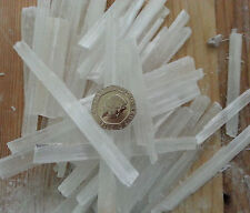 10 Raw Selenite Crystal Thin Wands Dowser Angel Stone Healing Chakra Wholesale