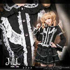 lolita goth princess diary fancy restaurant crease jabot blouse shirt JN0082 W