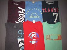 Lot of 6~ American Eagle Hollister Aero Quiksilver DC S/S T-Shirts Men's Large