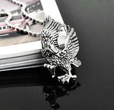 316L Stainless Steel Mens Hawk Eagle Man Pendent Necklace with Chain MN6