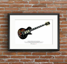 Keith Richards' Gibson Les Paul Custom Black Beauty ART POSTER A3 size