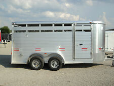 NEW 16' ALL ALUMINUM STOCK / HORSE TRAILER  *ON SALE NOW* BEST DEALS@ DR TRAILER