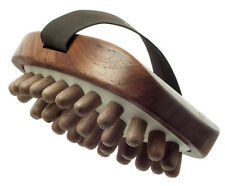 Hydrea London Walnut Wood Cellulite Massager With Wooden Pegs - Fat Removal