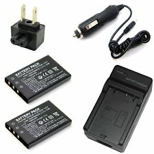 Charger + 2x Battery for DXG DSC-521 DXG-5D7V DXG-521 DXG-571V DVV-891 DVX-5F9