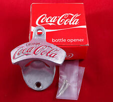 Vintage Collectible COCA COLA COKE Metal Bottle Opener Wall Mount Cap Drink