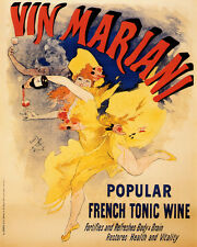 VIN MARIANI FRENCH TONIC WINE DANCER 8 X 10 VINTAGE POSTER REPRO FREE SHIPPING