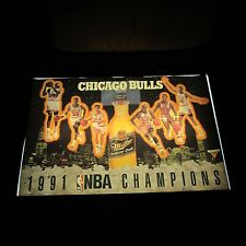 1991 Chicago Bulls NBA Champions Miller MGD Beer Poster 30 x 20 unused