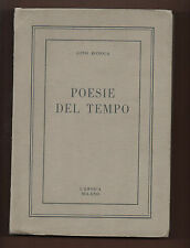 Orta-Cusio+GINO BONOLA POESIE DEL TEMPO.-L'Eroica,Milano 1959