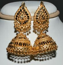 Gold Plated South Indian Jhumka Jhumki Bridal Earrings Wedding Ethnic Jewelry