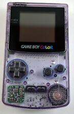Nintendo Game Boy Color Atomic Purple Cleaned New Screen & Original Housing!