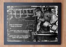 STUNNING FRAMED BODY BUILDING JAY CUTLER INSPIRATIONAL QUOTE / PRINT / POSTER