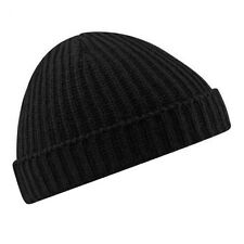 Stylish Beanie Hat Warm Ribbed Winter Turn Up Retro Ski Unisex Fisherman Docker