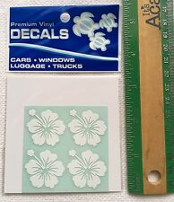 "Hawaiian Car Window Vinyl Stickers Decal 4 Small 1"" Hibiscus Hawaii island N"