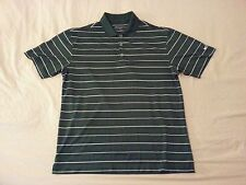 Mens Nike Golf Polo Shirt M Medium Green Stripes