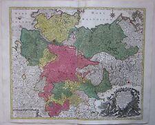 1770ca SAXONIAE Lotter Sachsen Hamburg Bremen Hannover Rostock Lübeck Göttingen