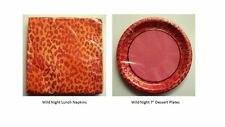 Wild Night Pink Cheetah Lunch Napkins and Pink Cheetah Plates bachelorette party