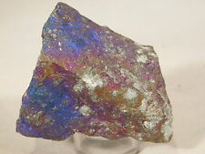 A DEEP BLUE and PURPLE Peacock Copper Bornite or Peacock Ore Mexico 169.3gr