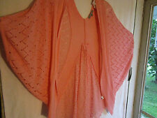 NY Collection pink size XL angel wing crocheted sweater New with tags