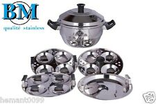BM Induction friendly idly cooker cum steamer - idli cooker for 15