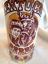 1977 KY KENTUCKY DERBY GLASS SEATTLE SLEW Won 39 Years Old WONDERFUL COND