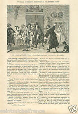 Comedy Theater Troost Den Haag Museum Netherlands Nederland  GRAVURE PRINT 1862