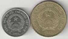 2 DIFFERENT COINS from VIETNAM - 200 & 5000 DONG (BOTH DATING 2003)