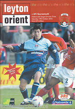 2002/03 LEYTON ORIENT V BOURNEMOUTH 19-10-2002 (PROMOTED) Division 3 (Very Good)