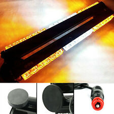 DOUBLE SIDE 108W LED WORK LIGHT BAR BEACON WARNING STROBE LAMP AMBER WHITE
