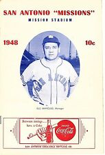 RARE 1948 SAN ANTONIO MISSIONS vs HOUSTON BUFFS Baseball Program/Scorecard