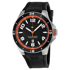 Tommy Hilfiger Blake Black Dial and Rubber Mens Watch 1790861