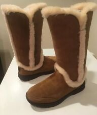 New Chestnut Ugg Classic Katia Suede Tall Boots SZ 7 Women's �� ��Save ������