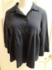 FOREVER Casual Jacket Navy Blue Womens Size Large 100% Cotton NWT