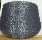 ACRYLIC 2/17.5 LACE FINGERING 3400 YPP NAVY WITH GOLD METALLIC WRAP 1 LB (A63)