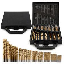 99Pcs Titanium HSS Coated Drill Bits Metal Twist Drill Bit Brick Set Steel Case