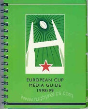 EUROPEAN CUP & SHIELD RUGBY MEDIA GUIDE 1998/9 ULSTER & MONTFERRAND WINNERS